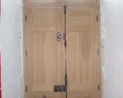 Portes bois sur mesure (vue intérieure), Sud Mayenne (53)